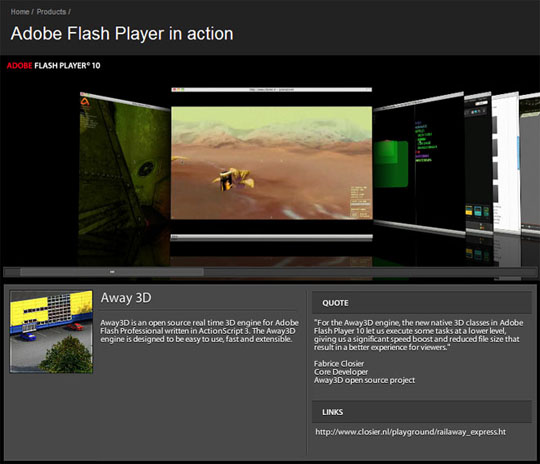 Away3D Adobe Flash 3D Engine