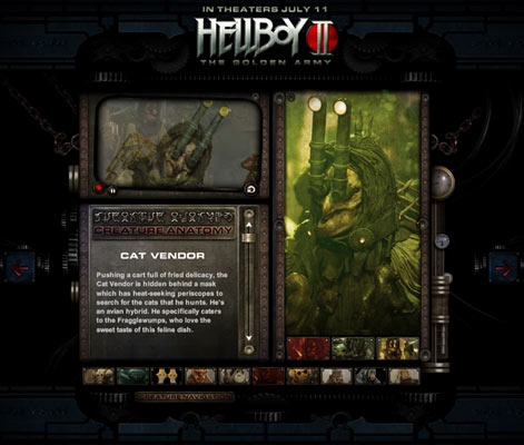 Hellboy Away3D site