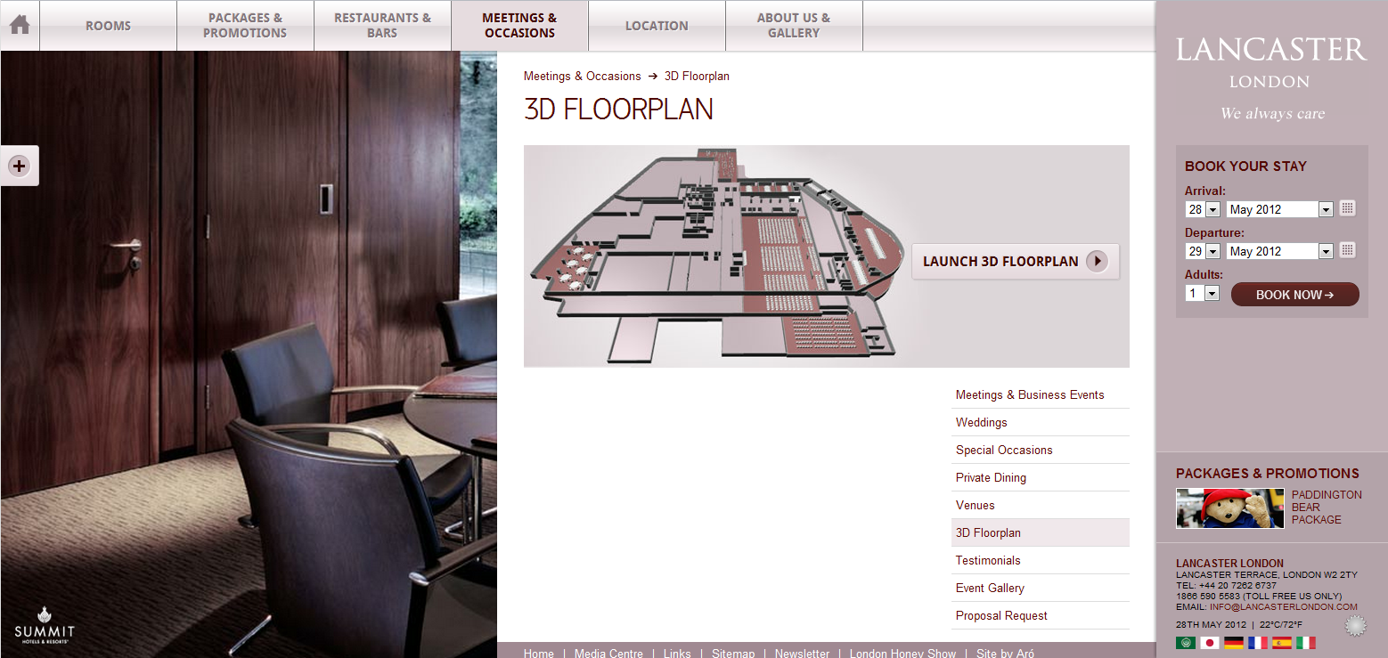 Lancaster London 3D floorplanner