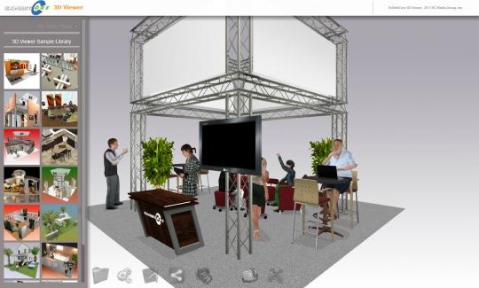 Exhibitcore showcase away3d for Exhibitcore floor planner