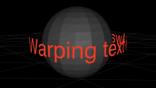 Warping 3D Text