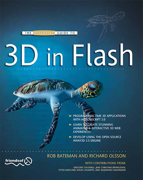 First Away3D book: The Essential guide to 3D in Flash