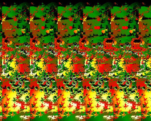 Autostereogram images generated with Away3D